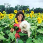 Da Vinci: With Mom Janet & Sunflowers