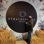 Huber visits Stratosphere Social