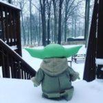 Baby Yoda In The Snow