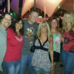 Brian, Wendy, Mikey B, Gerri, Donna Jean and Lisa - Boston Concert at Mecu Pavilion - August 2014