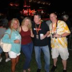 Mary, Lisa, Mikey B and Scott at the 38 Special MD State Fair Concert 8/22/2014