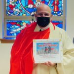 Fr. Jeff Dauses of Immaculate Heart of Mary Parish accepts his Local Legend award!