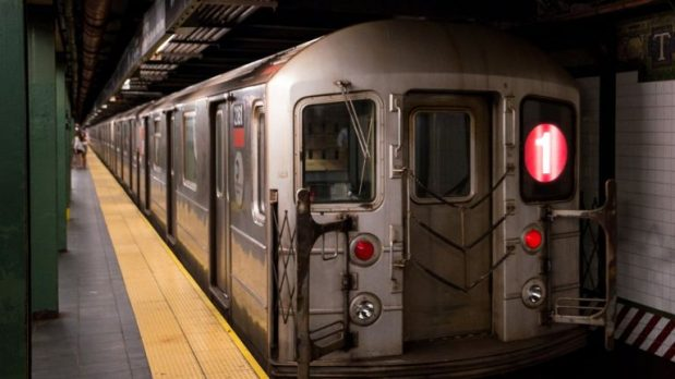 NYC Subway in tunnel