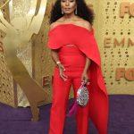 Entertainment: 71st Annual Emmy Awards: Sep 22, 2019; Los Angeles, CA, USA;  Angela Bassett, left arrives at the 71st Emmy Awards at the Microsoft Theater. Mandatory Credit: Dan MacMedan-USA TODAY