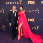 Entertainment: 71st Annual Emmy Awards: Sep 22, 2019; Los Angeles, CA, USA; Michael Douglas and Catherine Zeta-Jones arrive at the 71st Emmy Awards at the Microsoft Theater. Mandatory Credit: Harrison Hill-USA TODAY
