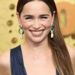 Entertainment: 71st Annual Emmy Awards: Sep 22, 2019; Los Angeles, CA, USA; Emilia Clarke arrives at the 71st Emmy Awards at the Microsoft Theater. Mandatory Credit: Dan MacMedan-USA TODAY