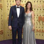 Entertainment: 71st Annual Emmy Awards: Sep 22, 2019; Los Angeles, CA, USA;  Jason Bateman, left and Amanda Anka arrive at the 71st Emmy Awards at the Microsoft Theater. Mandatory Credit: Dan MacMedan-USA TODAY