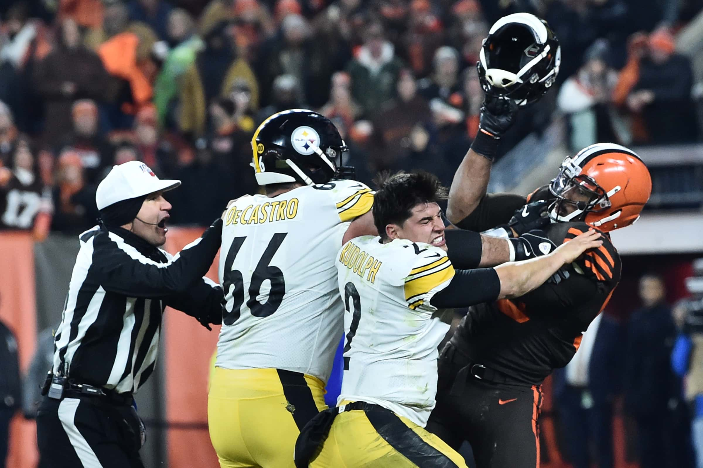 Watch Browns Steelers Thursday Night Football 4th Qtr Fight
