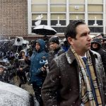 Syndication: NorthJersey: Jersey City Mayor Steven Fulop leaves a press conference across the street from the Jersey City Kosher Supermarket the morning after a shoot out with police in Jersey City, N.J. on Wednesday Dec. 11, 2019. One police officer, the two shooters and three civilians were killed.After The Shooting