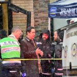Syndication: NorthJersey: Jersey City Mayor Steven Fulop talks to the clean up crew at the Jersey City Kosher Supermarket the morning after a shoot out with police in Jersey City, N.J. on Wednesday Dec. 11, 2019. One police officer, the two shooters and three civilians were killed.After The Shooting