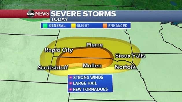 Heavy storms set to hit Plains, new storm systems develop