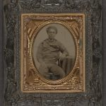 Library of Congress: Unidentified African American sailor in Union uniform sitting with arm resting on table