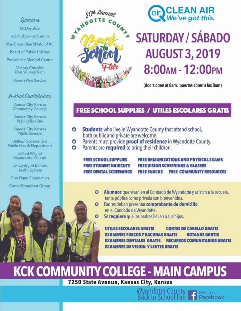 20th Annual Wyandotte County Back to School Fair | Hot 103 Jamz!