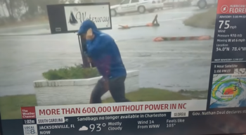 image of weather reporter