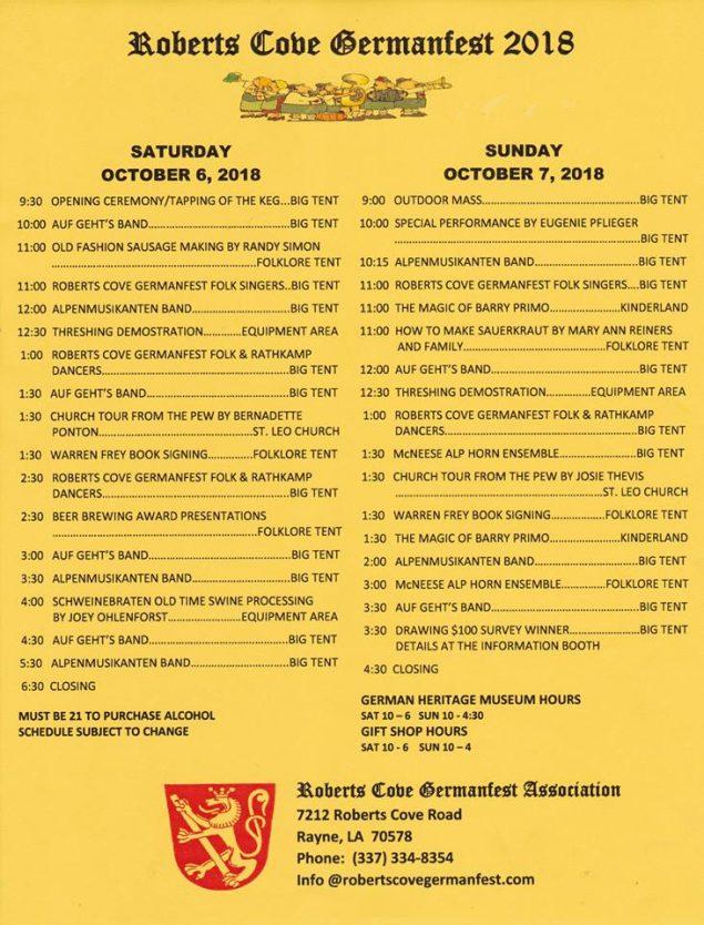 germanfest schedule 2018