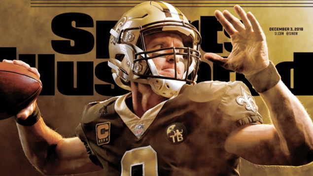 drew brees sports illustrated cover