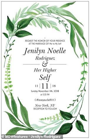 wedding invitation marrying self