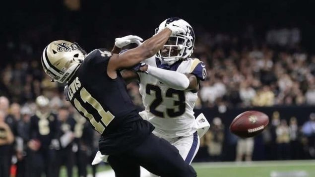 rams saints pass interference