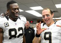 benjamin watson and drew brees locker room