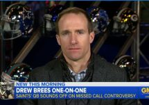 drew brees on gma