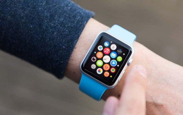 apple watch on man's wrist
