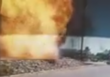 vehicle explosion at a drive thru