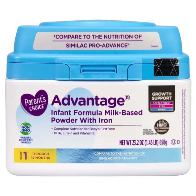 parents choice baby formula with iron