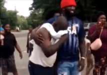son surprising father with truck