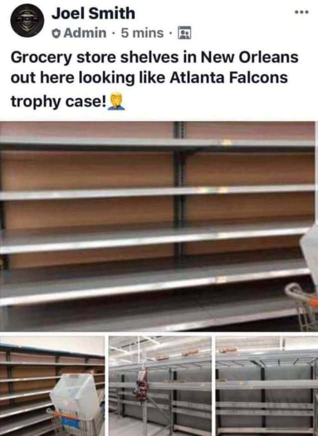 atlanta falcons trophy case empty shelves meme