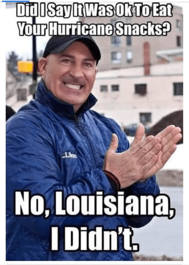 jim cantore hurricane snacks meme