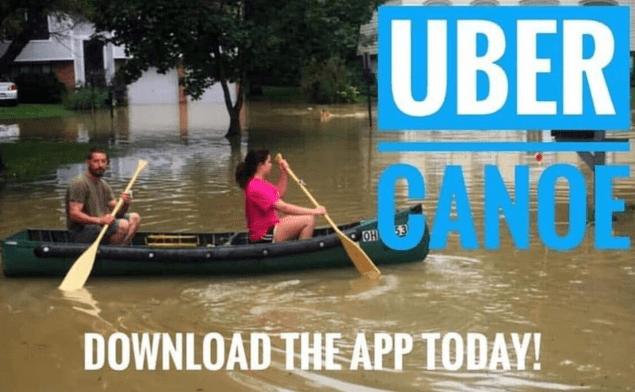 uber canoe meme
