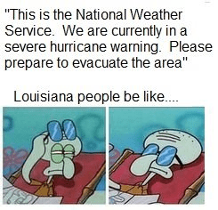 squidward louisiana hurricane meme