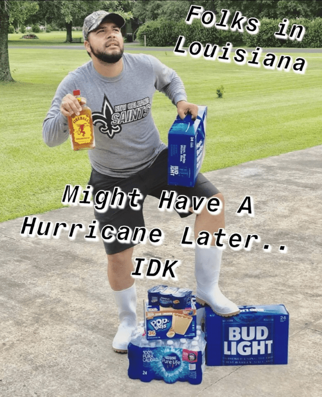 louisiana folks hurricane meme