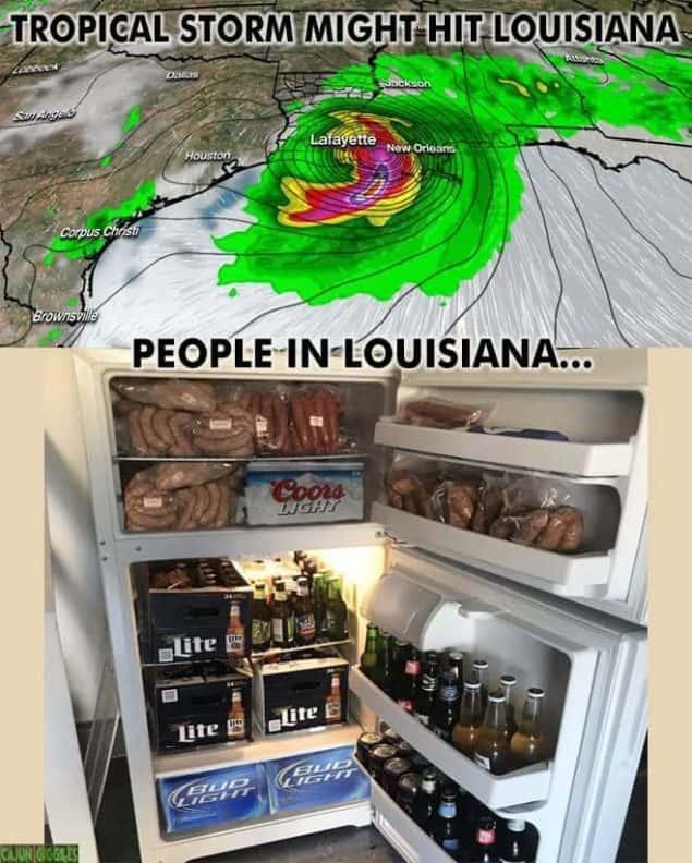 people in louisiana like hurricane meme
