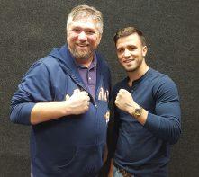 Mason Menard with Eric White
