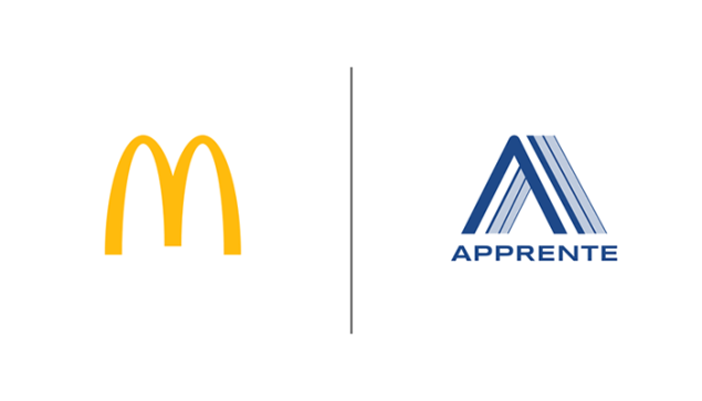 mcdonalds and apprente logos side by side