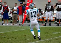 Jake Delhomme passing playing for Panthers