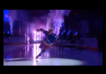 new york rangers hockey player lias andersson trips during introduction