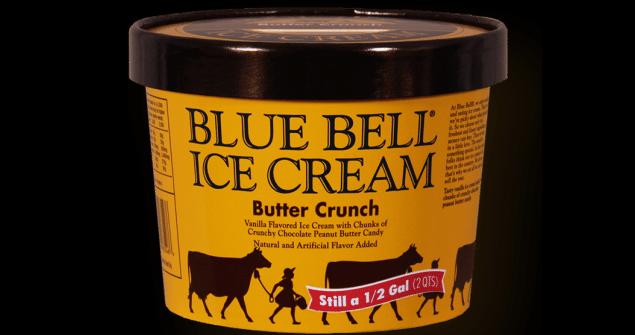 blue bell butter crunch half gallon of ice cream