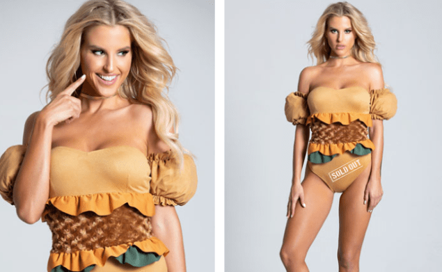 sexy sold out chicken sandwich halloween costume blonde model
