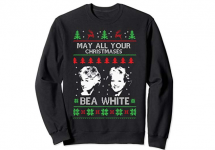 may all your christmases bea white golden girls ugly christmas sweater