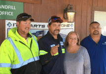 landfill crew with woman and engagement ring found in trash