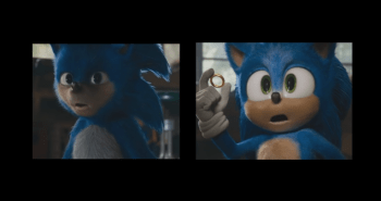 old sonic movie character vs new sonic redesign