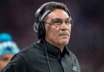 former carolina panthers head coach ron rivera on the sidelines