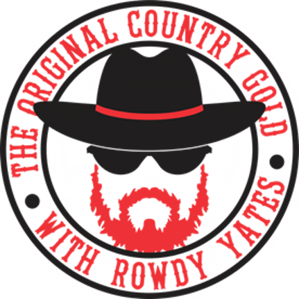 country gold with rowdy yates logo