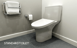 standardtoilet white toilet with slanted seat