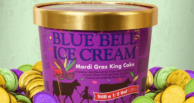 Mardi Gras King Cake Ice Cream is Back! | Pure Country 106.7