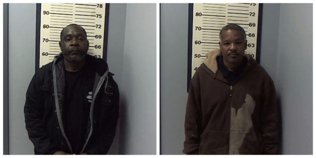 two mughsots from flowood police department