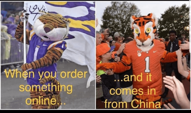 Funny KYBG-FM Big Memes Mascot | Clemson 102.1