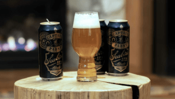 captain pabst seabird beer display